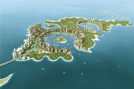 Projet île artificielle Qatar